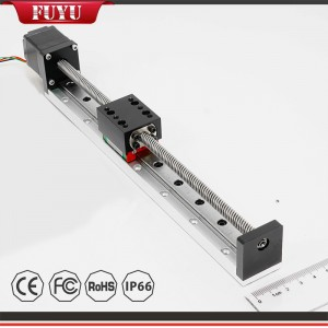 Trapezoidal Ball Screw Small and Light Linear Guide with Stepper Motor Good Repeatability and Accuracy