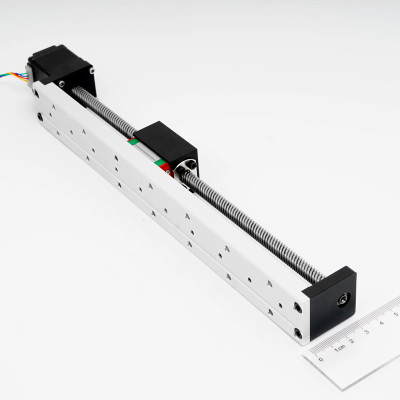 Trapezoidal Ball Screw Small and Light Linear Guide with Stepper