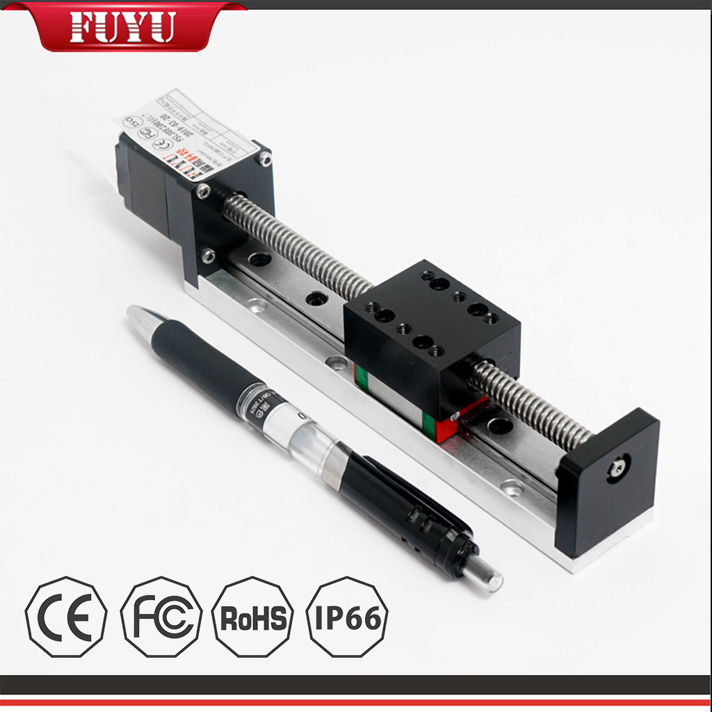 Miniature Aluminum Profile Small and Light Linear Rail Guide with Stepper Motor Featured Image